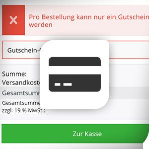 Gutscheincode-Eingabe im Offcanvas-Warenkorb